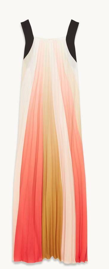 Robe d'été longue arc en ciel Maje