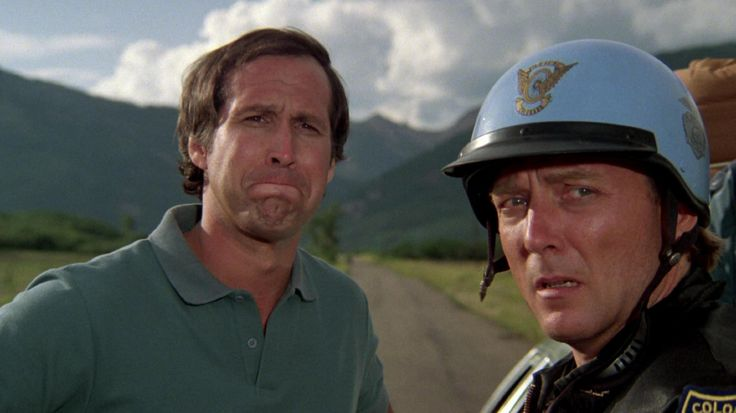 Chevy Chase and James Keach in National Lampoon's Vacation (1983)