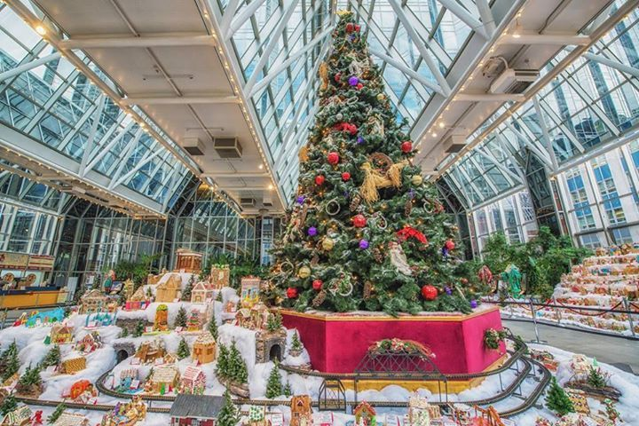 Gingerbread village inside the Wintergarden at PPG Place (Dave DiCello Photography)