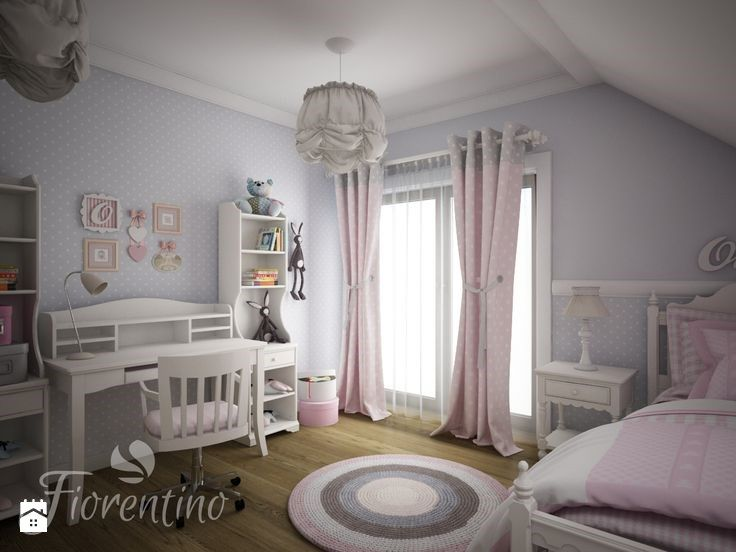 Pokój Dla 5 letniej Oliwi .Meble i projekt pokoju Fiorentino. - zdjęcie od Fiorentino.pl
