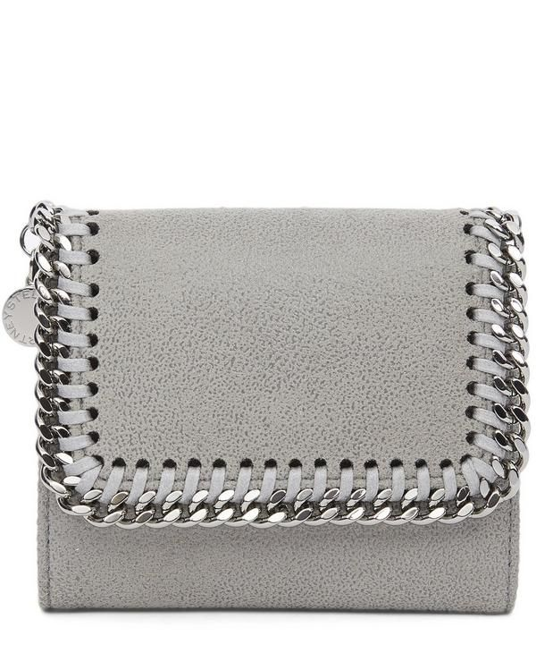 One of the label's most classic styles, the Falabella is reimagined as a sleek, rock-chic wallet for Autumn/Winter 2017.