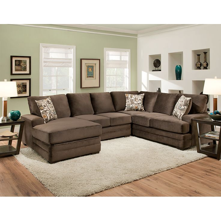 Sharpei Chocolate Sectional | Sectionals | Discount Direct Furniture And  Mattress Gallery 1499.99