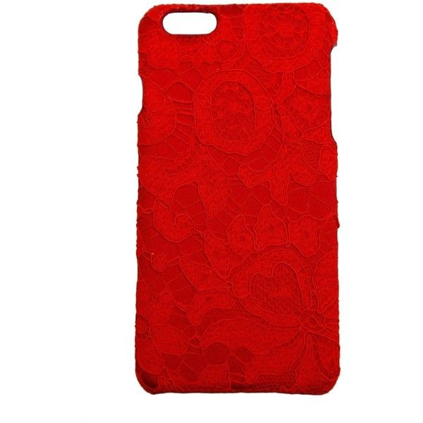 DOLCE & GABBANA Lace phone case 6G plus ($125) ❤ liked on Polyvore featuring accessories and tech accessories