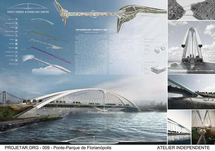 Second Prize in International Architecture Competition for Students - Projetar.org // Bridge Park Ricardo dos Santos // Florianópolis - Brazil