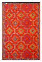 Fab Habitat 4-Feet by 6-Feet Lhasa Indoor/Outdoor Rug, Orange and Violet