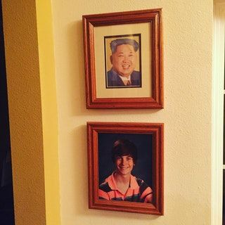 Replaced my little sisters graduation photo with one of the supreme leader 3 weeks ago. Dad still hasn't noticed.