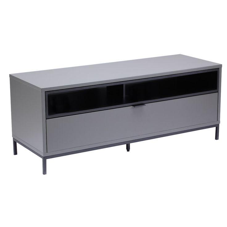 Alphason Chaplin ADCH1135 Charcoal/ Black TV Cabinet