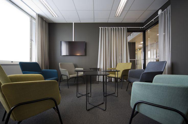 Taivu chairs (design Mikko Laakkonen) and Bondo tables (design Harri Korhonen)