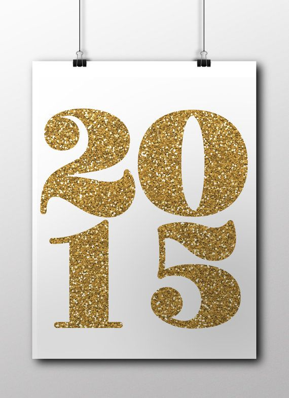 New Year print 2015 DIY Digital printable new by kidspartyroom