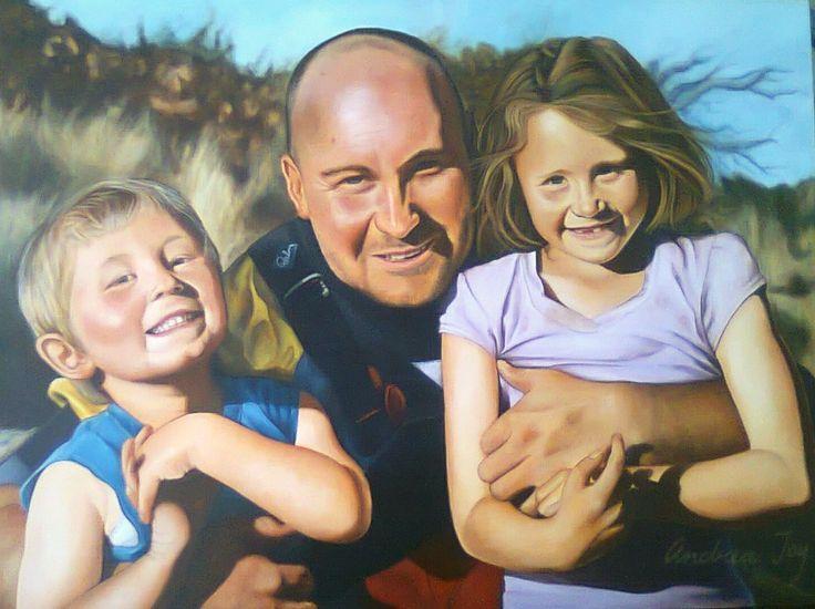 Beautiful family x Acrylic on canvas (45 x 65)