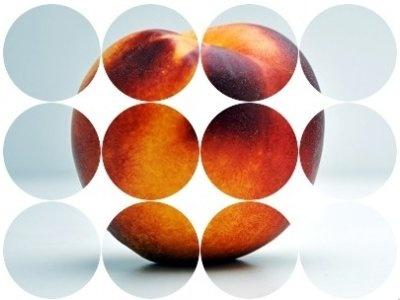 runde sache, pfirsich als mehrteiler, schon erstaunlich, wie im kopf das vollständige bild entsteht