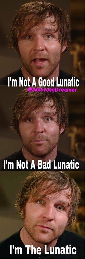 Yo no soy un Buen Lunático, tampoco un Mal Lunático. Yo soy El Lunático <3