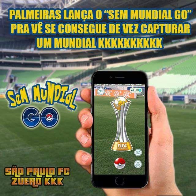 Zoando o Palmeiras, Palmeiras lança o mundial Go, fotos e imagens para zuar o Palmeiras, em 2016.