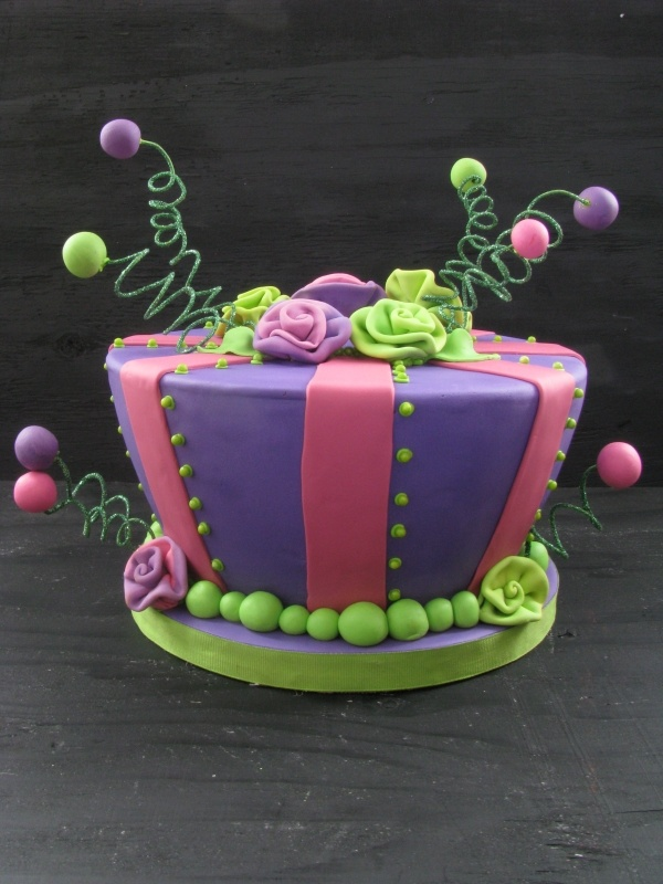 fun whimsical birthday cake
