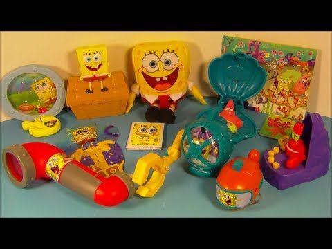 2014 NICKELODEON'S SPONGEBOB SQUAREPANTS SET OF 8 McDONALD'S HAPPY MEAL KID'S TOY'S VIDEO REVIEW