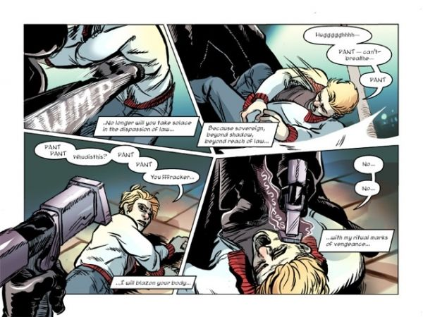 A preview of the Brander, a web comic series Vancouver writer Rodrigo Caballero plans to launch this fall.