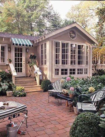charming backyard patio