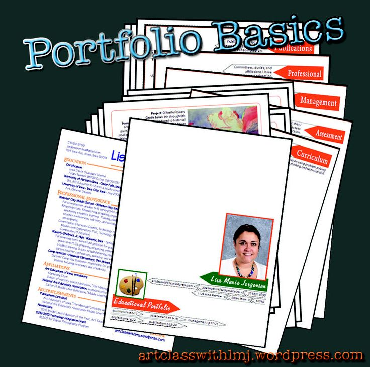 Teaching portfolio template teaching pinterest for Teaching portfolio template free