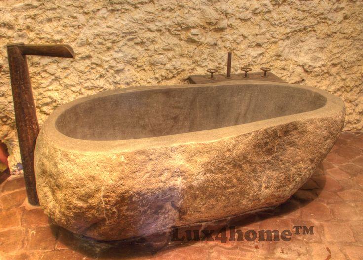 Wanny z kamienia Lux4home™. Wanna z kamienia naturalnego w łazience. Produkcja w Indonezji - zamontowana w Polsce.