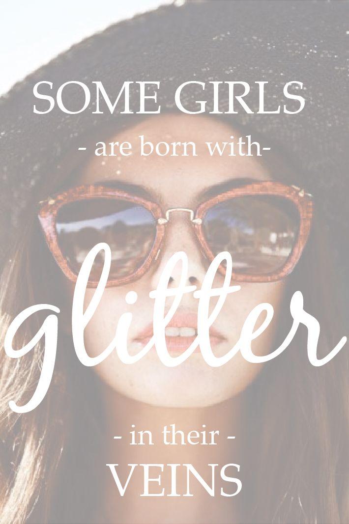 Some Girls Are Born With Glitter In Their Veins | Miu Miu Glitter Sunglasses: