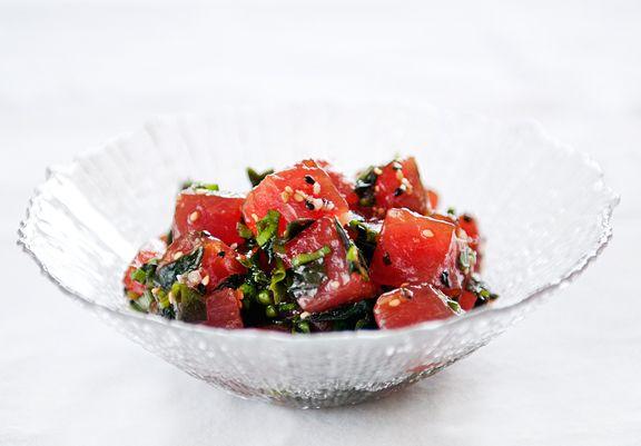 tuna poke salad | Decadence | Pinterest