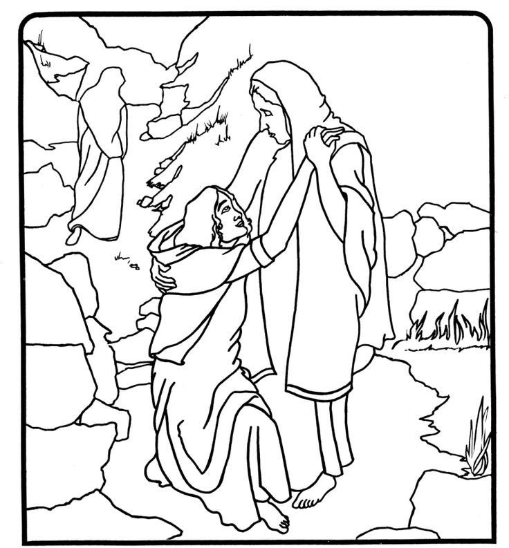 ruth choosing to stay with naomi while oprah goes back bible coloring pages