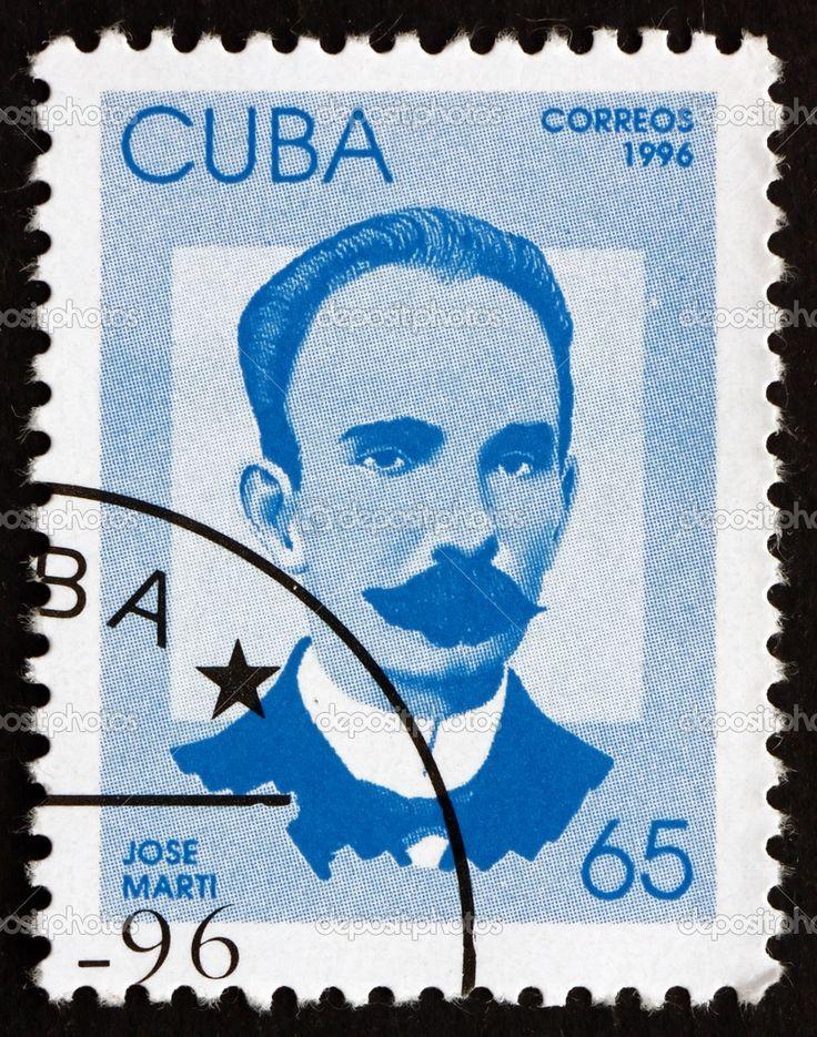 estampilla cuba 1996 jose marti, revolucionario cubano — Foto ...