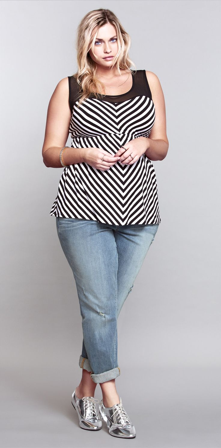 Dress size 24 torrid dress 24 torrid black and white draped v neck -  Topseller This Striped Top Is So Cute But Going Going Fast