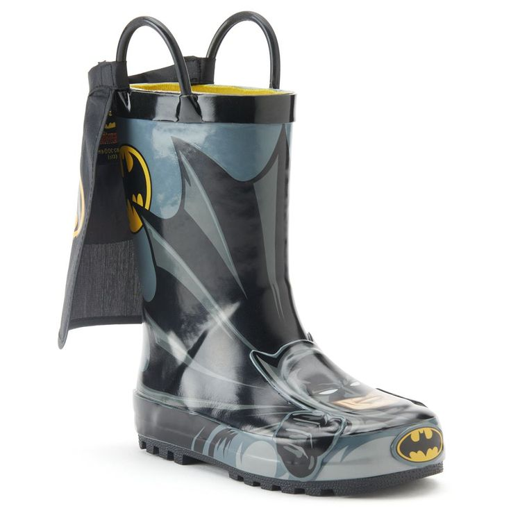 Western Chief Batman Everlasting Toddler Boys' Rain Boots, Size: 10 T, Black
