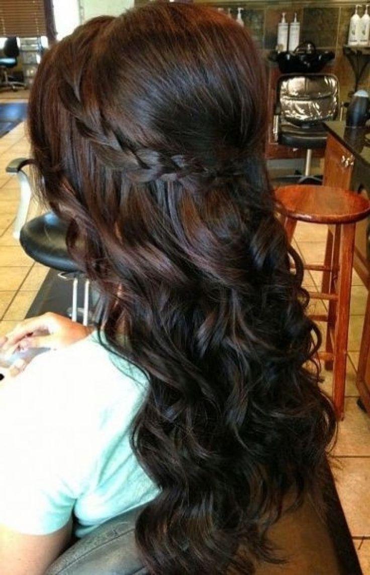 Lockige Locken für mittellange Frisuren #frisuren #für #Hairstyle