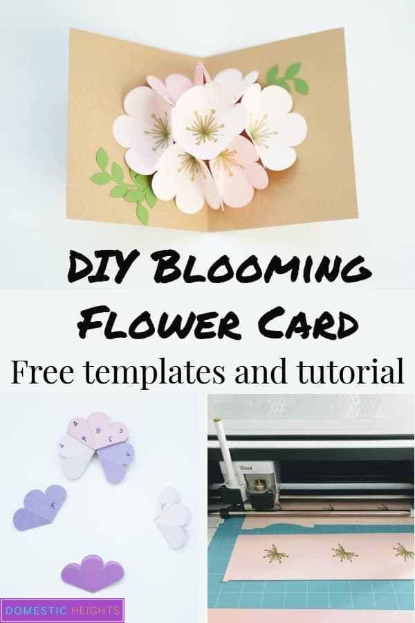 Cricut Pop Up Flower Bouquet Domestic Heights Pop Up Flower Cards Card Making Flowers Cricut Birthday Cards