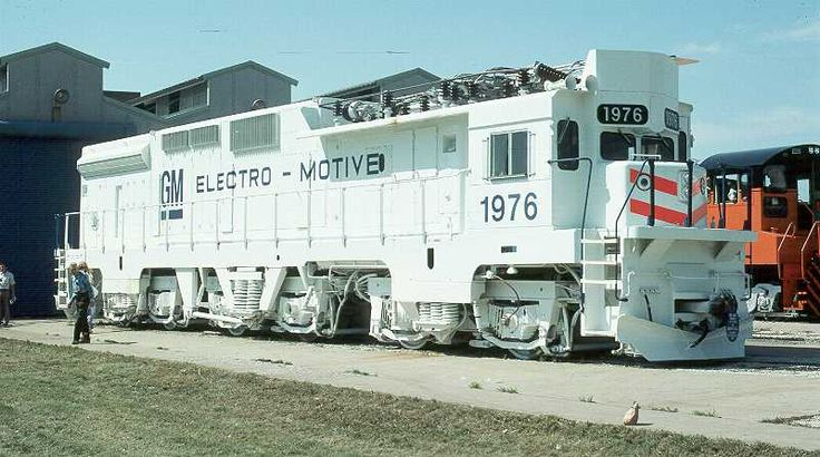 EMD (Electro Motive Division) GM10B experimental six-axle electric locomotive in USA