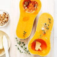 Baked Butternut Squash with Thyme (GF). #butternut, #vegetables, #recipes, #glutenfree