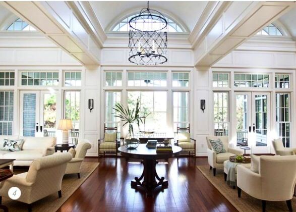 Beautiful Perfect Idea For A Great Room   After Three Huge Windows In Foyer On Each  Side