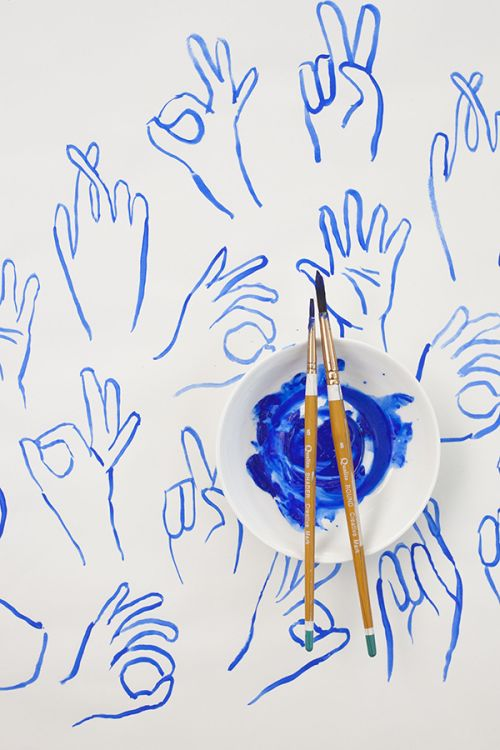 Blue | Painting Hands