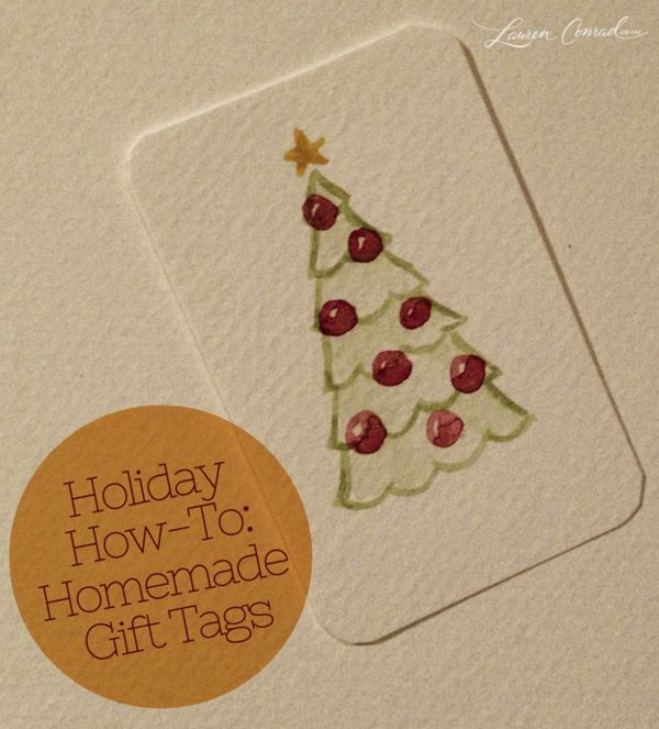 how to: homemade holiday gift tags #DIY