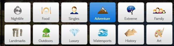 Αν ξέρετε τι θέλετε αλλά δεν ξέρετε πού θα το βρείτε, η Wanderfly σας παρέχει τον τρόπο.    Διαθέτει ένα απλό και αποτελεσματικότατο μενού, όπου ανάλογα με τον προγραμματισμό σας (προϋπολογισμός, διάρκεια, τοποθεσία)