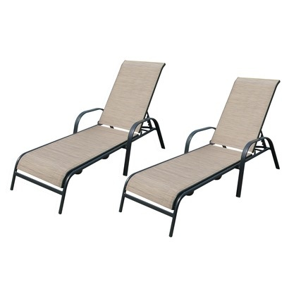 Target Home™ Dumont Sling Patio Chaise Lounge Set   Tan   No Longer  Available.
