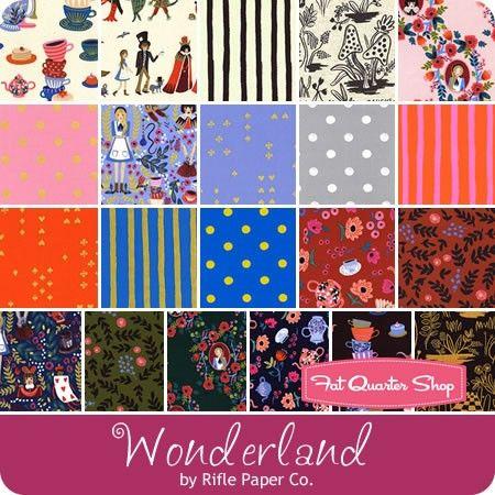 Wonderland Half Yard Bundle Rifle Paper Co. for Cotton + Steel Fabrics - Cotton + Steel Fabrics | Fat Quarter Shop