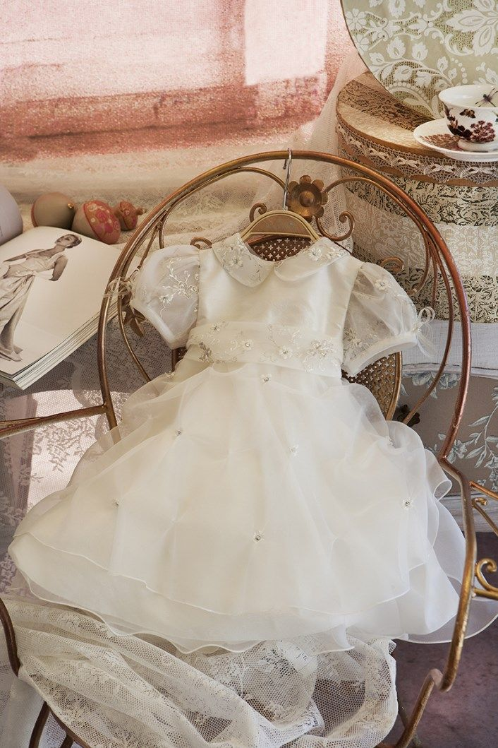 Christening Dress  Christening Gown Baptism Dress  Sty.No G 1002-1 www.babyhautecouture.com