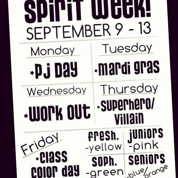 First spirit week of junior year!