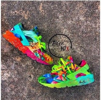 shoes red blue yellow orange sneakers kicks popular sneakers pink green huarache colorful colorful nikes nike