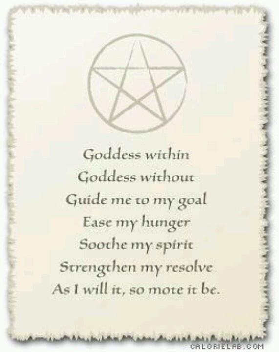 *Prayer to the Goddess