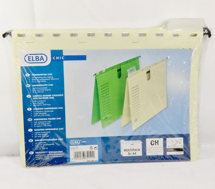 5 Stk. ELBA® chic 85802 Hängehefter chamois, Hängeregister, Hängeordner