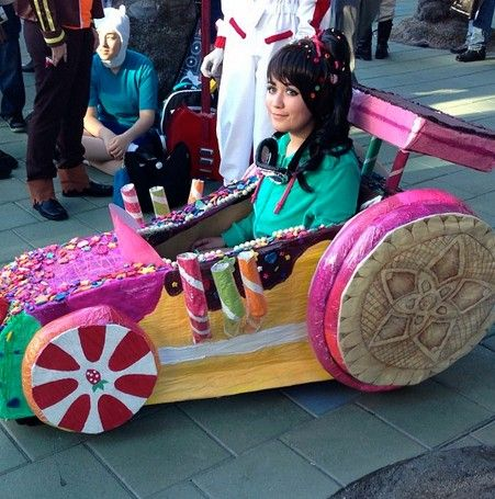 Wow went all out for that Vanellope Cosplay
