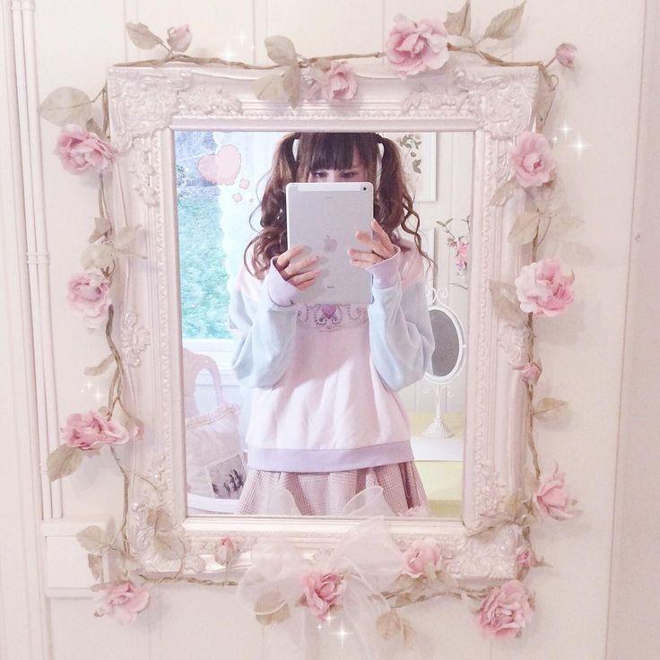Shabby chic mirror rosegarland