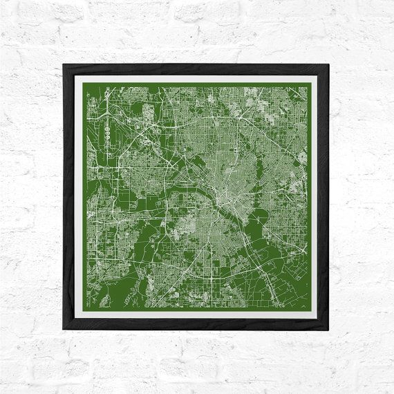 Road Map Of Dallas Texas.Dallas City Map Poster Line Art City Map Road Map Of Dallas Texas