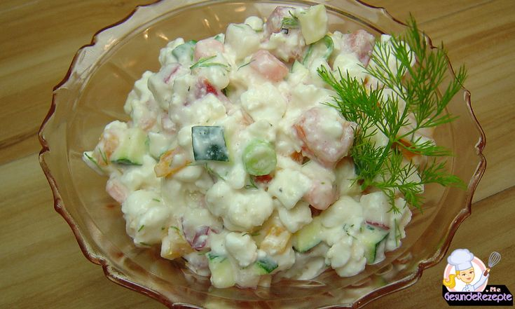 Hüttenkäse Salat, low carb rezept