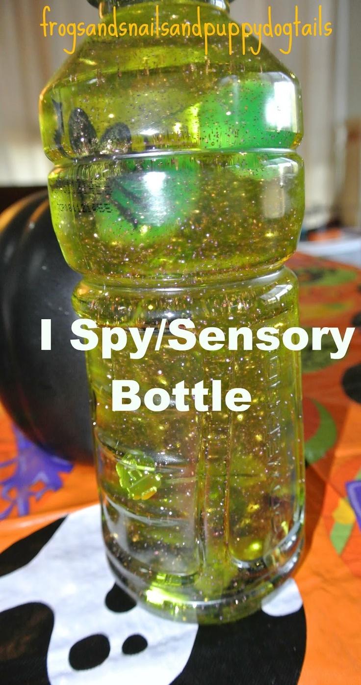 Frogs & Snails & Puppy Dog Tails (FSPDT): Halloween I spy/sensory bottles