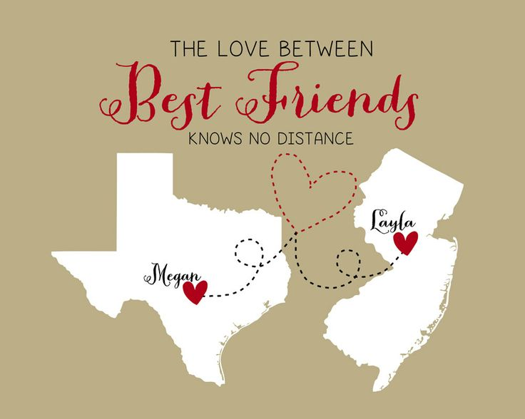 Wedding Gift Ideas For Distant Friends : ... Long Distance Friends, Friendship Quotes Birthday, Best Friends Gift